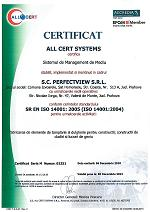 Certificare ISO 14001:2004