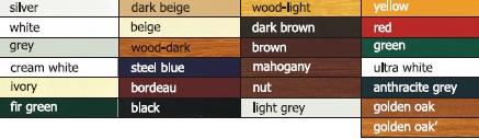 Culori Lamele izolate cu spuma